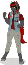 Size: 587x1361 | Tagged: anthro, artist:lumino010, digitigrade anthro, earth pony, male, oc, reference sheet, safe, solo