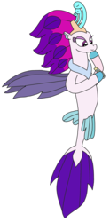 Size: 1507x3040 | Tagged: artist:supahdonarudo, holding, hoof on chin, message in a bottle, my little pony: the movie, queen novo, safe, seapony (g4), simple background, thinking, transparent background