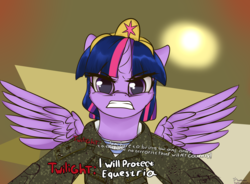 Size: 3400x2500 | Tagged: alicorn, angry, artist:lakunae, barkov, call of duty, camouflage, clothes, determination, female, grammar error, gritted teeth, hug, mare, meme, military uniform, misspelling, modern warfare, pony, safe, twilight sparkle, twilight sparkle (alicorn), urzikstan