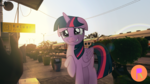 Size: 4128x2322   Tagged: safe, artist:indonesiarailroadpht, twilight sparkle, alicorn, pony, irl, photo, ponies in real life, railroad, twilight sparkle (alicorn)