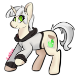 Size: 1400x1400 | Tagged: safe, artist:myahster, oc, pony, unicorn, clothes, commission, hoodie, signature, solo