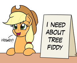 Size: 1100x900 | Tagged: safe, artist:mkogwheel edits, edit, editor:wild stallions, applejack, pony, applejack's sign, loch ness monster, meme, south park, tree fiddy
