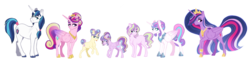 Size: 6500x1570 | Tagged: alicorn, alternate design, alternate hairstyle, armor, artist:whalepornoz, big crown thingy 2.0, earth pony, family, female, jewelry, male, offspring, older, older flurry heart, parent:princess cadance, parent:shining armor, parents:shiningcadance, pegasus, pony, princess cadance, princess flurry heart, princess gold lily, princess skyla, princess sterling, princess twilight 2.0, safe, shining armor, shiningcadance, shipping, spoiler:s09e26, straight, the last problem, tiara, twilight sparkle, twilight sparkle (alicorn), unicorn