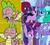 Size: 800x722 | Tagged: safe, artist:pony-berserker edits, artist:徐詩珮, edit, glitter drops, spike, spring rain, tempest shadow, trixie, twilight sparkle, dragon, series:sprglitemplight diary, series:springshadowdrops diary, bisexual, cute, female, glitterbetes, glitterlight, glittershadow, hotline bling, lesbian, meme, polyamory, shipping, sprglitemplight, springbetes, springdrops, springlight, springshadow, springshadowdrops, tempestbetes, tempestlight, twiabetes, twixie, winged spike