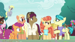 Size: 1920x1080 | Tagged: safe, screencap, aunt holiday, auntie lofty, cheerilee, derpy hooves, mane allgood, scootaloo, snap shutter, trouble shoes, pony, the last crusade, spoiler:s09e12