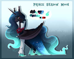 Size: 3000x2401 | Tagged: safe, artist:sugaryicecreammlp, oc, oc:prince shadow moon, alicorn, pony, alicorn oc, male, offspring, parent:king sombra, parent:nightmare moon, reference sheet