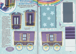 Size: 3211x2297 | Tagged: safe, trixie, pony, arts and crafts, craft, magazine scan, papercraft, trixie's wagon