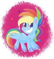Size: 1280x1408 | Tagged: safe, artist:missmele-madness, rainbow dash, pegasus, pony, my little pony: pony life, pony life, deviantart watermark, female, mare, obtrusive watermark, solo, unshorn fetlocks, watermark