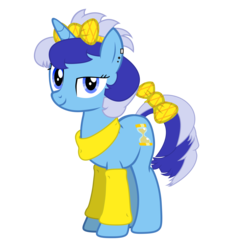 Size: 7574x7374 | Tagged: 80s, alternate hairstyle, artist:bastbrushie, female, mare, minuette, pony, safe, solo, unicorn, young