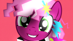 Size: 3840x2160 | Tagged: 80s, 80s cheerilee, 80s hair, artist:bastbrushie, artist:vbastv, braces, bust, cheeribetes, cheerilee, cute, earth pony, female, looking at you, mare, pony, portrait, retro, safe, synthwave