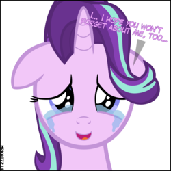Size: 4000x4000 | Tagged: absurd resolution, artist:mrkat7214, crying, cute, dialogue, end of ponies, feels, female, floppy ears, glimmerbetes, looking at you, mare, pony, sad, sadorable, safe, simple background, solo, starlight glimmer, talking to viewer, teary eyes, unicorn, vector, white background