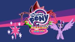 Size: 4800x2700 | Tagged: safe, artist:acspeeddemon, edit, twilight sparkle, alicorn, pony, logo, logo edit, logo parody, nascar, solo, spread wings, twilight sparkle (alicorn), wallpaper, wings