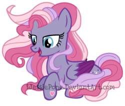 Size: 966x820 | Tagged: safe, artist:ijessiepone, starsong, pegasus, pony, g3, g4, colored wings, colored wingtips, female, g3 to g4, generation leap, lying down, mare, redesign, simple background, solo, tricolor mane, watermark, white background