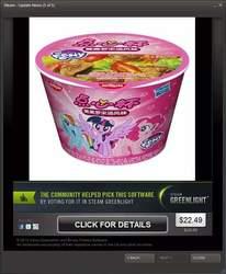 Size: 550x669 | Tagged: safe, pinkie pie, rainbow dash, twilight sparkle, alicorn, pony, china, chinese, cup noodles, merchandise, twilight sparkle (alicorn)
