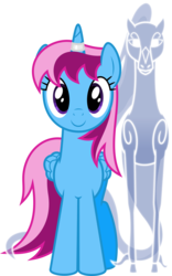 Size: 4000x6403 | Tagged: safe, artist:parclytaxel, oc, oc only, oc:parcly taxel, oc:spindle, alicorn, pony, windigo, 2020 community collab, derpibooru community collaboration, .svg available, absurd resolution, alicorn oc, c:, cute, female, horn, horn ring, looking at you, mare, ocbetes, simple background, smiling, transparent background, vector, windigo oc