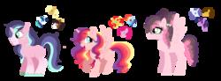 Size: 1686x619   Tagged: safe, artist:unoriginai, applejack, cheese sandwich, pinkie pie, rainbow dash, rarity, shining armor, sunset shimmer, trouble shoes, twilight sparkle, oc, alicorn, pegasus, pony, unicorn, alicorn oc, cheesity, cute, female, infidelity, lesbian, magical lesbian spawn, magical threesome spawn, male, offspring, ot3, pinkiedash, rarilight, shiningjack, shipping, straight, sunsetdash, sunsetpie, troublejack, twicheese