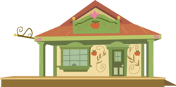 Size: 886x440   Tagged: safe, artist:a01421, appleloosa, building, door, no pony, resource, simple background, train station, transparent background, vector, window