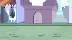 Size: 2013x1136 | Tagged: artist:a01421, background, building, canterlot, door, no pony, road, safe, stairs, street, vector