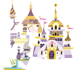 Size: 1210x1158 | Tagged: safe, artist:a01421, pony, building, canterlot, canterlot castle, castle, door, resource, simple background, spire, transparent background, vector, window