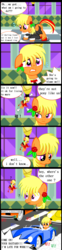 Size: 1544x6216 | Tagged: safe, artist:avchonline, oc, oc only, oc:sean, pony, angry, annoyed, bust, car, chinese, clothes, colt, comic, dialogue, driving, english, engrish, family guy, flower, flower in hair, halo, male, shoulder angel, shoulder devil, suit, worried