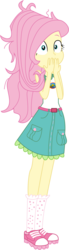 Size: 1946x7038 | Tagged: absurd resolution, artist:marcorois, camp everfree outfits, clothes, equestria girls, female, fluttershy, human, legend of everfree, safe, shoes, simple background, sleeveless, sneakers, solo, tanktop, transparent background, vector