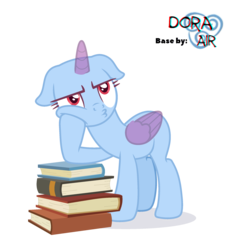 Size: 2096x2250 | Tagged: safe, artist:doraair, oc, oc only, alicorn, pony, alicorn oc, base, book, pouting, simple background, solo, transparent background