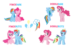 Size: 1151x738 | Tagged: artist:kayman13, artist:trotsworth, bubble berry, bubbleblitz, bubbledash, closed eye, earth pony, female, gay, half r63 shipping, holding, hopping, lesbian, looking at each other, male, mare, pegasus, pinkieblitz, pinkiedash, pinkie pie, pony, rainbow blitz, rainbow dash, rule 63, safe, shipping, simple background, straight, tag your it, talking, transparent background, unamused, worried
