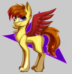 Size: 3850x3975 | Tagged: artist:lux-arume, hybrid, male, oc, oc only, paws, pony, safe, solo, stallion, wings