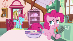 Size: 1280x720 | Tagged: between dark and dawn, cup cake, pinkie pie, safe, screencap, spoiler:s09e13