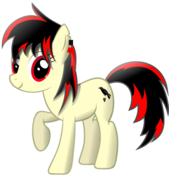 Size: 1995x2070   Tagged: safe, artist:johnn195cz, oc, oc:raven fear, pony, happy, shading, simple background, solo, transparent background, vector