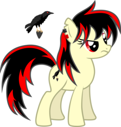 Size: 4500x4740   Tagged: safe, artist:northernthestar, oc, oc:raven fear, cutie mark, frown, not amused face, solo, standing, unamused, unimpressed