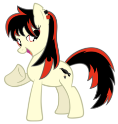 Size: 4776x5000   Tagged: safe, artist:luckysmores, oc, oc:raven fear, pony, bedroom eyes, fabulous, i'm fabulous, pointing at self, simple background, solo, transparent background