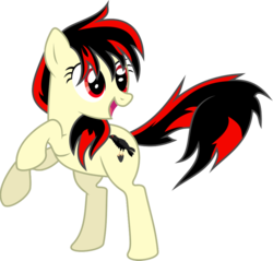 Size: 900x862   Tagged: safe, artist:clockworksprocket, oc, oc:raven fear, pony, .svg available, bipedal, excited, happy, raised hooves, rearing, rearing up, simple background, solo, standing on back legs, transparent background, vector