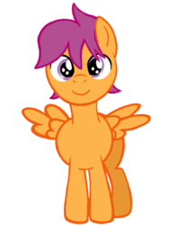 Size: 1536x2048 | Tagged: safe, artist:turnaboutart, scootaloo, pegasus, pony, colt, looking at you, male, rule 63, scooteroll, solo