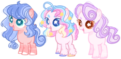 Size: 5520x2720 | Tagged: safe, artist:kurosawakuro, artist:mlp-awesomebases, oc, earth pony, pegasus, pony, unicorn, base used, female, filly, heart eyes, interspecies offspring, magical lesbian spawn, offspring, parent:cozy glow, parent:pinkie pie, parent:princess flurry heart, parent:princess skystar, parent:sweetie belle, parents:cozybelle, parents:cozyheart, parents:skypie, simple background, starry eyes, transparent background, wingding eyes