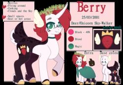 Size: 1280x893 | Tagged: safe, artist:sweetie-drawz, oc, oc:berry, deer, deer pony, original species, pony, female, mare, reference sheet, solo