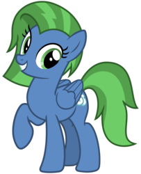 Size: 2600x3200 | Tagged: safe, artist:cheezedoodle96, oc, oc only, oc:sky cleaner, pegasus, pony, 2020 community collab, derpibooru community collaboration, .svg available, female, looking at you, mare, raised hoof, simple background, smiling, solo, svg, transparent background, vector