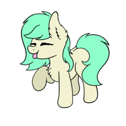 Size: 3000x3000   Tagged: safe, artist:aaathebap, oc, oc only, oc:basil leaf, earth pony, pony, :p, eyes closed, female, mare, simple background, solo, tongue out, transparent background