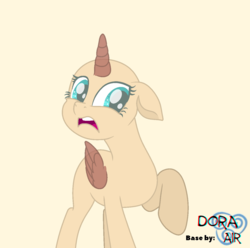 Size: 1278x1269 | Tagged: safe, artist:doraair, oc, oc only, alicorn, pony, alicorn oc, base, disgusted, raised hoof, simple background, solo, worried