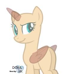 Size: 4000x4529 | Tagged: safe, artist:doraair, oc, oc only, alicorn, pony, alicorn oc, base, grin, simple background, smiling, solo, transparent background