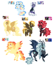 Size: 3115x3859 | Tagged: alicorn, alicorn oc, antlers, applejack, artist:purfectprincessgirl, big macintosh, blushing, celestimac, clothes, colored hooves, colored wings, colored wingtips, curved horn, discord, draconequus hybrid, fancydash, fancypants, female, floppy ears, floral head wreath, flower, fluttershy, freckles, glasses, horn, hybrid, interspecies offspring, jewelry, king sombra, lunacord, male, mare, neckerchief, necklace, oc, offspring, parent:applejack, parent:big macintosh, parent:discord, parent:fancypants, parent:fluttershy, parent:king sombra, parent:pinkie pie, parent:pokey pierce, parent:princess celestia, parent:princess luna, parent:rainbow dash, parent:rarity, parents:celestimac, parents:fancydash, parents:lunacord, parents:raripierce, parents:sombrapie, parents:thunderjack, parents:troubleshy, parent:thunderlane, parent:troubleshoes clyde, pinkie pie, pokey pierce, pony, princess celestia, princess luna, rainbow dash, rainbowpants, raripierce, rarity, rearing, safe, shipping, simple background, sombrapie, stallion, straight, sweater, thunderjack, thunderlane, transparent background, trouble shoes, troubleshy, unicorn, unshorn fetlocks