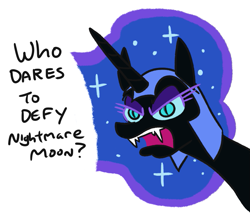 Size: 863x754 | Tagged: alicorn, artist:jargon scott, comic:puddle worms™, dialogue, female, friendship is magic, mare, nightmare moon, pony, safe, solo