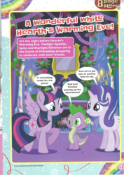 Size: 1654x2338 | Tagged: alicorn, a wonderful white hearth's warming eve!, comic, dragon, magazine scan, pony, safe, spike, starlight glimmer, twilight sparkle, twilight sparkle (alicorn), unicorn, wrong eye color