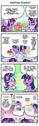 Size: 712x2292 | Tagged: safe, artist:wakyaot34, starlight glimmer, twilight sparkle, alicorn, pony, unicorn, 4koma, comic, dialogue, japanese, right to left, translation, twilight sparkle (alicorn)