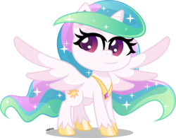 Size: 4000x3125 | Tagged: absurd resolution, alicorn, artist:orin331, cute, cutelestia, digital art, female, jewelry, mare, missing accessory, my little pony: pony life, pony, princess celestia, regalia, safe, simple background, smiling, solo, transparent background