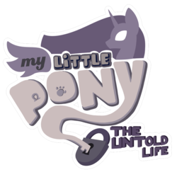 Size: 894x894 | Tagged: safe, artist:chedx, edit, comic:mlp the untold life, comic, fanfic art, logo, logo edit, no pony, simple background, transparent background