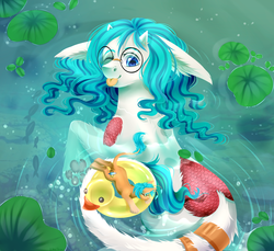 Size: 3500x3200 | Tagged: artist:djkaskan, glasses, long tail, male, pony, rubber duck, safe, size difference, smaller male, water