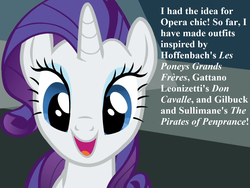 Size: 1428x1071   Tagged: safe, edit, edited screencap, screencap, rarity, pony, unicorn, do princesses dream of magic sheep, cropped, cute, excited, female, french, g1, g1 to g4, gaetano donizetti, generation leap, gilbert and sullivan, italian, jacques offenbach, mare, raribetes, speech