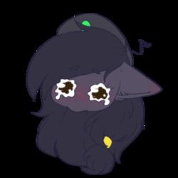 Size: 512x512 | Tagged: safe, artist:figa, oc, oc:mir, pegasus, beret, chibi, crying, ear fluff, emoji, emoticon, female, hat, sad, simple background, transparent background