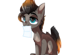 Size: 3700x3207 | Tagged: artist:heidi, ear fluff, fangs, hippogriff, holding paper, meme, oc, oc:ragnar, paper, safe, simple background, transparent background, two tone coat, two toned mane, two toned tail, two toned wings, wings